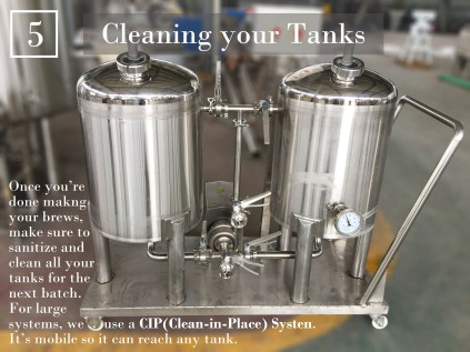 Step 5: Using the CIP System to clean your brew tanks